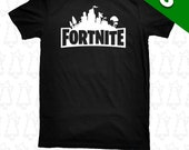Fortnite City Gamer Fort Night KIDS YOUTH Sizes T Shirt Pick A Logo Color