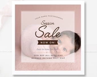 Photography Sale Marketing Board, Photographer Templates, Photoshop Promo, INSTANT DOWNLOAD!