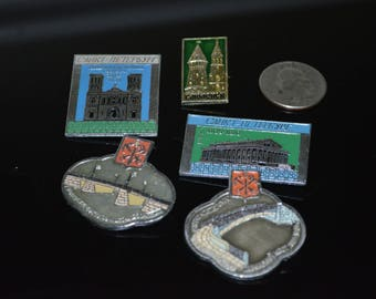 Vintage RARE Russian Souvenir Lapel Pin Lot of 5