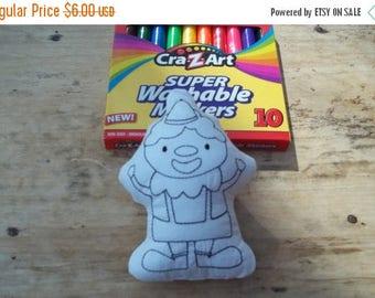 On sale Clown Coloring Stuffie : Coloring . Plushie .Washable . Reusable . . Clown .