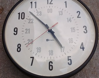 School Wall Clock 24HR Format Simplex