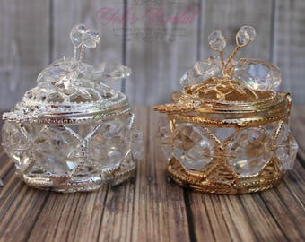 FAST SHIPPING!! Beautiful Crystal Ring Box, Jewelry Box, Wedding Gift, Wedding Arras, Ring Bearer, Wedding Ring Box, Anniversary Gift, Rings