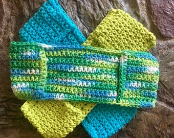 Hand Crocheted Washable, Reusable Cotton Sweeper and Mop Cover Pads
