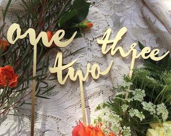 Wedding Table Number - Single Number - Garden Line