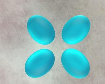 Turquoise blue Luna Soft cabochon 25x18mm