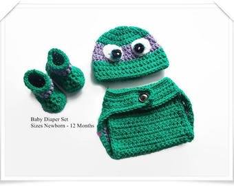 Gifts for boys, Baby boys, Ninja turtles, Baby clothing, Baby props, Photo prop set, Crochet baby, Diaper set, Baby gifts, Baby ideas