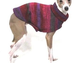 Italian Greyhound Sweater. Red & Purple Tie Dye. Italian Greyhound Clothing. Iggy. Dog Sweater. Dog Clothes.  Dog Clothing. Dog Apparel.
