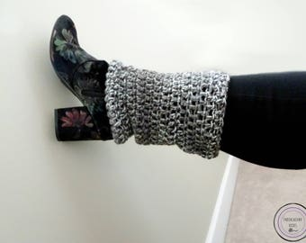 Plus Size Leg Warmers - Plus Size Leg Cuffs - Plus Size Boot Cuffs - Crochet Leg Warmers - Crochet Boot Cuffs - Warm Boot Cuffs - Plus Size