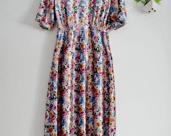 Velvet Flower Dress