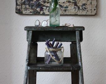 Industrial Vintage Step Ladder with Original Paintwork