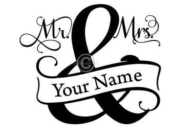 Mr And Mrs Split Monogram Svg, Split Monogram Svg, Mr And Mrs Svg, Wedding Svg, Wedding Dxf, Mr Mrs Clipart