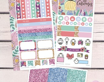Alice In Wonderland Personal Size Kit / Planner Stickers