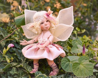 Fairy art doll Anniversary Gift girly gift handmade doll porcelain doll blonde doll fantasy doll girly gifts LIMITED EDITION