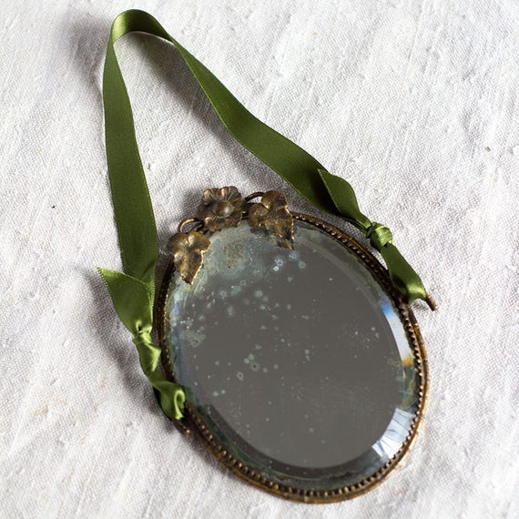 RESERVED - CLEARANCE - French Petite Vanity Mirror