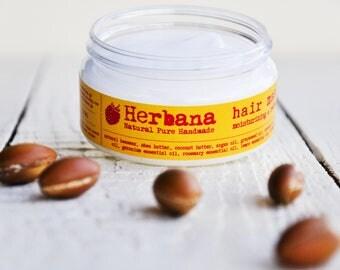 Argan Oil Hair Mask, Intensive Repair, Herbal, Hair Mask Conditioner, Conditioning Natural Hair Mask, Organic Hair Care by Herbana Cosmetics