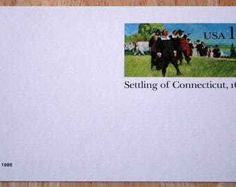 20 Mint USPS Stamped Postcards--Scott #UX109--Settling Of Connecticut, 1636--14c--1986--Shipping Included