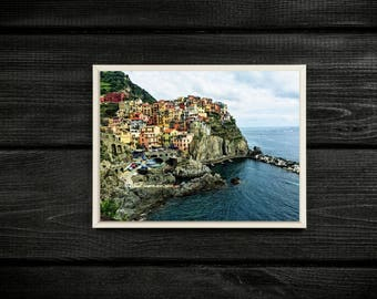 Picture Perfect Manarola, Cinque Terre, Italy. Travel Photography Print.