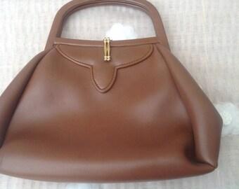 Stylish Original 1950's Brown Handbag
