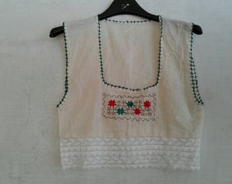 Stock top bambina anni70.Garza indiana.Ricami a mano.7-12 anni/70s kids indian top in stock/Hand embroidery/Gauze/Different sizes/7-12 years