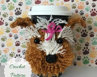 Mug Cozy Pattern, Dog Crochet Pattern, Crochet Dog Pattern, Amigurumi Dog, Dog Amigurumi, Crochet Pattern, Crocheting Patterns, Tea Cozy