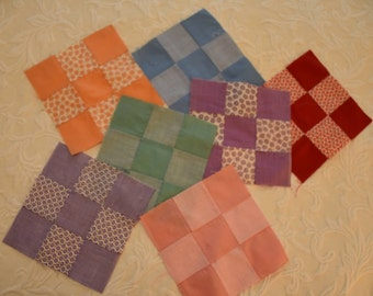1930u0027s nine patch quilt blocks very good condition all hand pieced