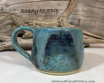 12oz. Mug, Pottery, Handmade, Pottery Handmade, Wheel Thrown, Coffee Mug, Tea, Hot Chocolate, Stoneware, Ready to Ship, Ceramic, Gift, 12oz