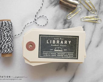 Little Free Library Rubber Stamp - From the Library of Stamp - Books - Ex Libris stamp - Bookplate Stamp - Book Stamp - Book Stand