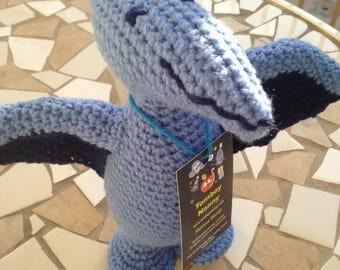 Blue Pterodactyl, Blue Pteranodon, Blue Dinosaur, Pterodactyl Toy, Dinosaur Plushie, Dino Stuffed animal, Handmade Dinosaur, Blue Stuffie