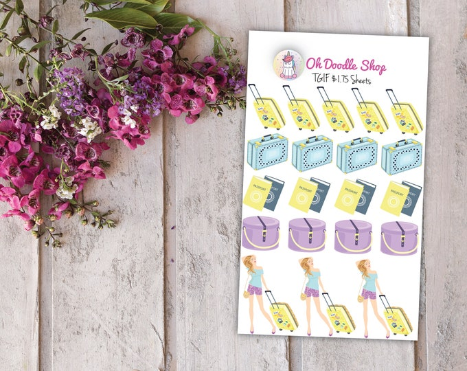 Travel Chic Planner Stickers | 2 Dollar Tuesday