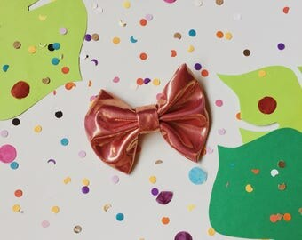 Pink & Gold Holographic Bow Tie