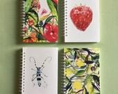 Notebook A6 Recycled Plain Paper Journal Jotter Notebook Sketch Musicians Music Pocket Note Book