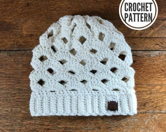 The Arcade Slouch Beanie **Pattern Only. Crochet Slouch Pattern. Easy Crochet Pattern. Slouch Hat Pattern. Easy Slouch Beanie. Slouchy Hat