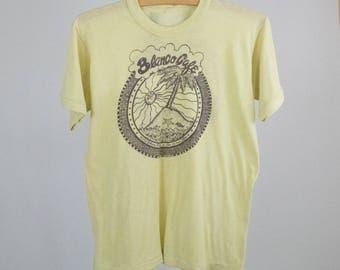 Vintage 70s 80s Small To Medium San Antonio Texas Blanco Cafe T-Shirt Tee