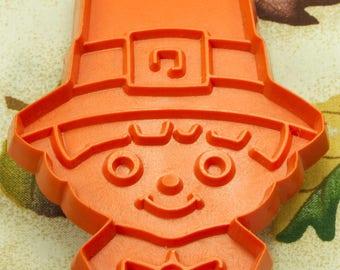 1979 Orange Pilgrim Boy Hallmark Plastic Cookie Cutter