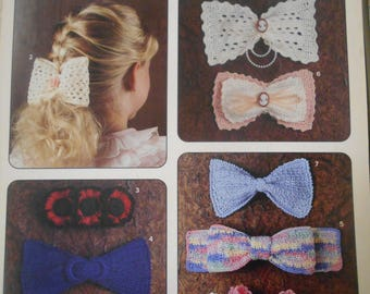 Crocheted Hairbows, Leisure Arts, Pattern Leaflet #955, 1990