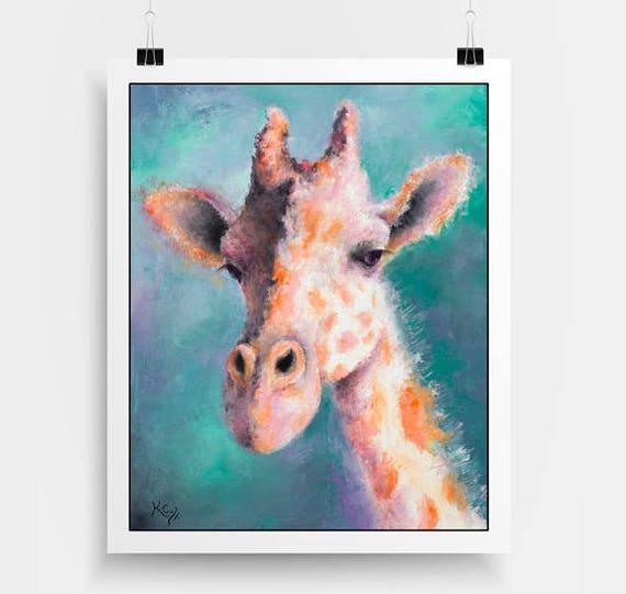Giraffe Print - Giraffe Gift, Zoo Animals Art, Giraffe Art Print, Giraffe Wall Art Decor, Zoo Art, Giraffe Nursery Wall Art, Giraffe Artwork