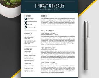 modern resume template professional resume template for word cover letter cv template - Template Professional Resume