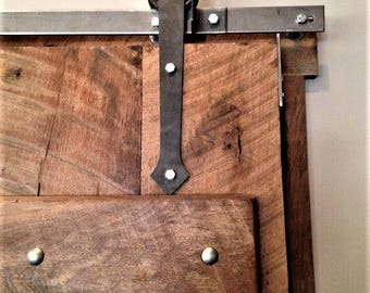 Good ARROW Style Sliding Barn Door Hardware With Track Included Made In The USA  Raw Steel Finish