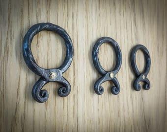 Troll cross.Hand forged blacksmith pendant.