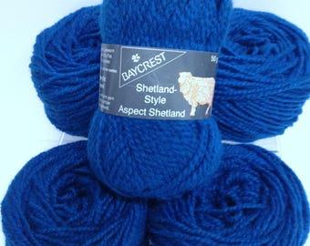 Chunky Wool Bundle, Baycrest Shetland Style Chunky Wool Blend Yarn Destash Turquoise Blue Yarn for Knitting Crochet Fiber Art Gift Projects