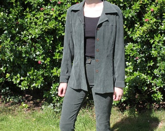 vintage cool green two-piece power suit / co-ord from PILOT size S