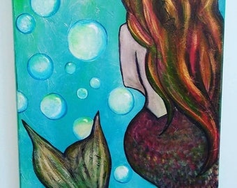 "Acrylic Painting Entitled ""Mermaid"""