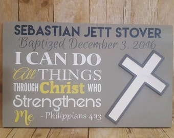 Baptism sign, Christening sign, Baptism gift, Christening gift, Baby shower gift, new baby gift, newborn sign, baby sign, birth announcement