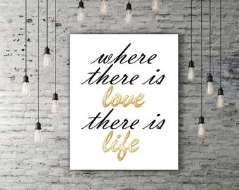 Printable Quotes, Calligraphy Quote, Love Quote Poster, Calligraphy Print, Love Quote Print, Love Poster, Love Wall Decor, INSTANT DOWNLOAD
