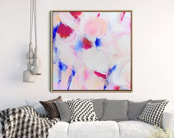 Abstract Art Print , Abstract Giclee Print , Modern Art Abstract , Minimalist Painting , from Original Abstract Acrylic Painitng, PINK print