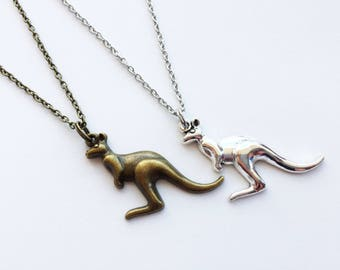 KANGAROO Necklace Kangaroo Jewelry Kangaroo Gift Australia Necklace Australia Jewelry Australia Gift Animal Necklace Kangaroo Charm Animal