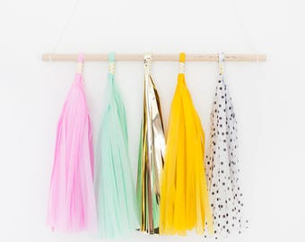 Hanging Tassel Garland Banner - Pick Your Own Colours! Living room, bedroom, kitchen decor