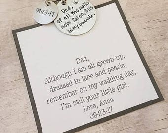Father of the Bride Gift - Personalized Keychain - Father of the Bride - Gift for Father of Bride