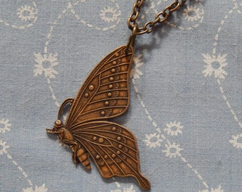 Fly Away Butterfly Pendant Necklace