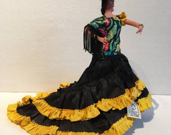 Vintage Marin Spanish Flamenco Dancer Doll -Made in Spain